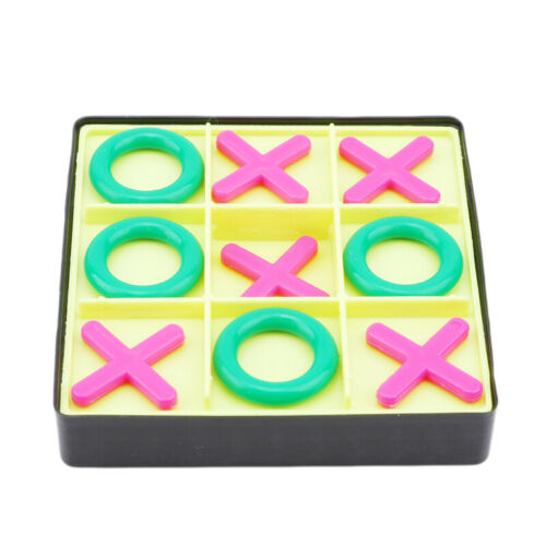 Board Tic Tac Toe Game Set Travel Play Box 6 Game Pieces Kids Family Gathering