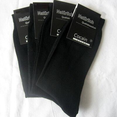 4 Paar Socken ohne Gummi 1//1 Rippe 100/% Baumwolle dunkelbraun 39 bis 46 Cocain