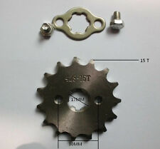 15 t tooth 17mm engine sprocket for 428 chain motorcycle dirt pit ATV bike parts