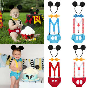 Image Is Loading Baby Boy Mickey Mouse First 1st Birthday Outfit