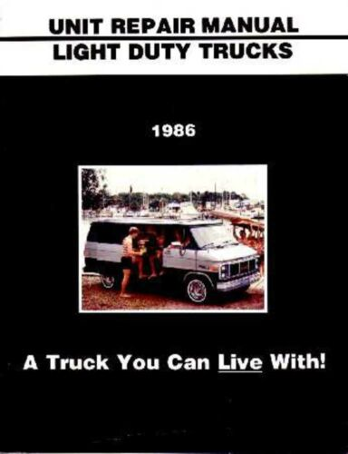1986 Chevy GMC C//K 10-30 S Truck Overhaul Service Manual Rebuild Instructions