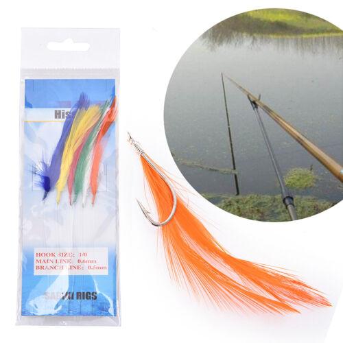 Details about  /Sabiki Saltwater Fishing Lure Bait Rig Hook Tackle Luminous Beads FeatherALUK