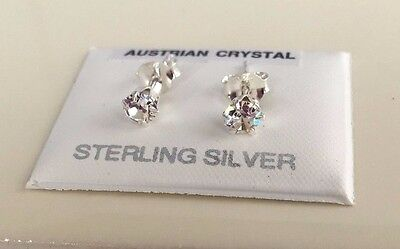 UK Made 9ct Gold Stud Earrings 6mm Square simulated Diamonds Women/'s