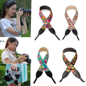 BU-Floral-Print-Adjustable-Sling-Camera-Shoulder-Neck-Strap-for-SLR-DSLR-Unique