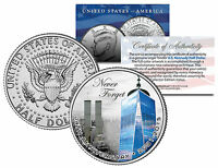 World Trade Center 14th Anniversary Colorized Jfk Half Dollar Coin 9/11 Wtc