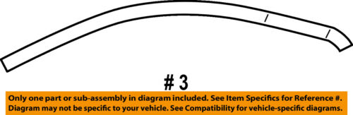 FORD OEM 10-15 Taurus Front Door-Upper Molding Trim Right AG1Z5420550B