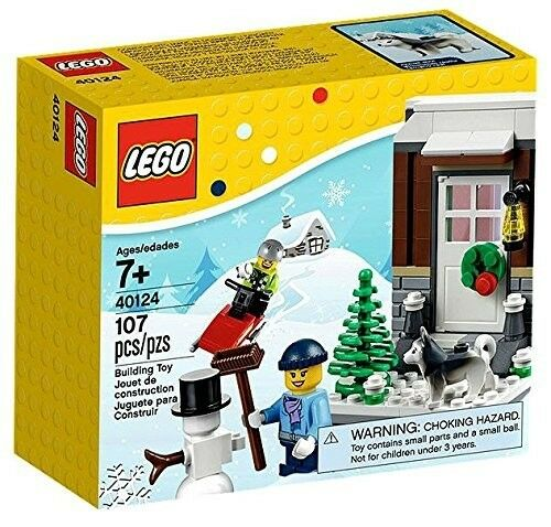 LEGO CHRISTMAS 40124 WINTER FUN LIMITED EDITION SET - - - RETIRED - NEW AND SEALED 92ccb9