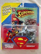 HUNTER PREY SUPERMAN VS DOOMSDAY & CYBER LINK SUPERMAN & BATMAN KENNER 1995