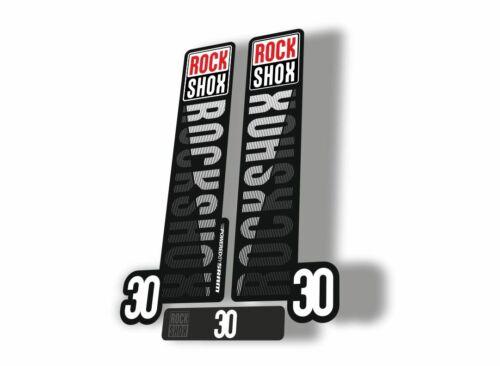 Rock Shox 30 2018 Fork Decal Mountain Bike Cycling Sticker Adhesive Black