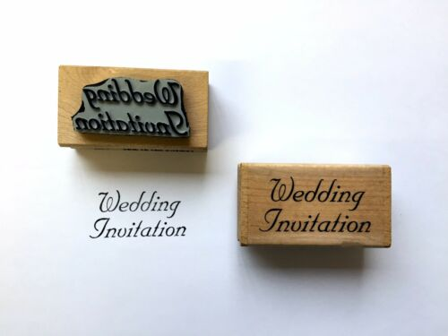 Wood Rubber Custom Made Wedding Invitation Stamp