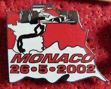 BEAU PIN'S F1 FORMULA ONE GRAND PRIX MONACO 2002 EGF