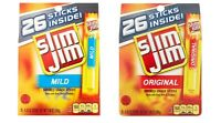 Slim Jim Snack Sticks, Original Or Mild 26 Sticks Per Box Free Shipping Save
