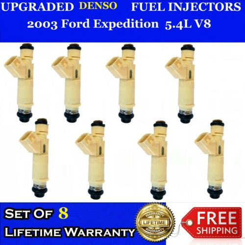 """8x /""""PERFORMANCE INCREASE/"""" 12 Hole Denso Fuel Injectors 03 Ford Expedition 5.4L"""