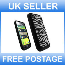 SOFT BLACK AND WHITE ZEBRA DESIGN SILICONE CASE FOR SAMSUNG GALAXY S i9000