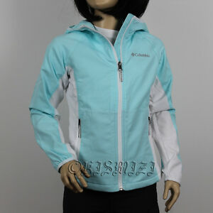 New-Girls-Columbia-034-Five-Alarm-034-Omni-Shield-Rain-Wind-Hooded-Softshell-Jacket