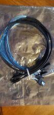 JacobsParts SAS to 4-SATA SFF-8087 Multi-Lane Forward Breakout Internal Cable - Black/Blue