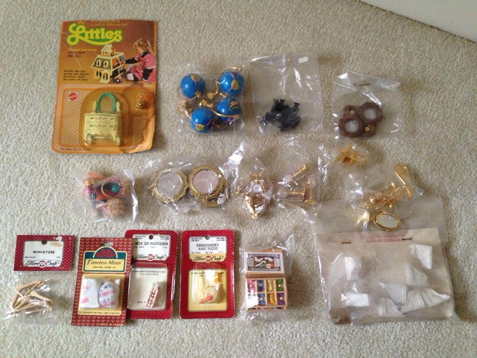 Large Lot Vintage Miniature Doll House Accessories