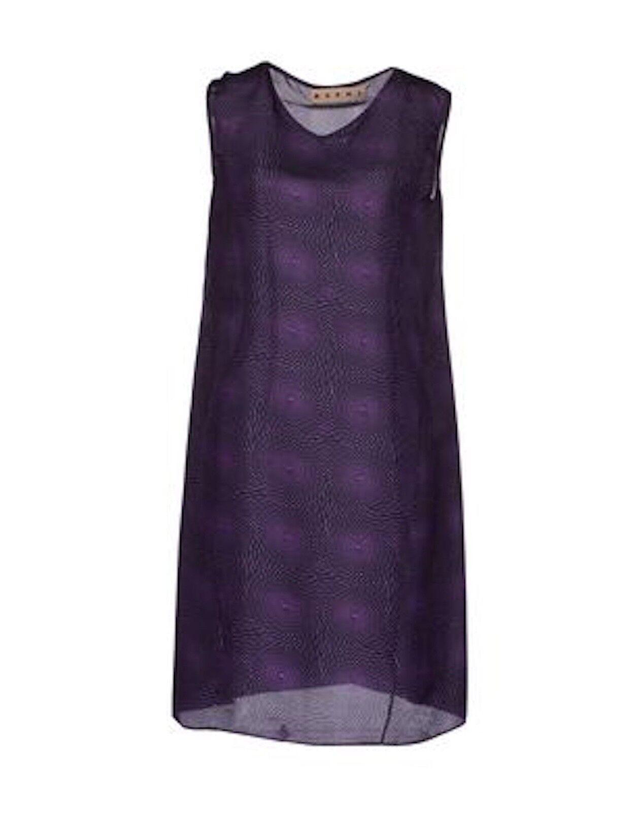 Marni lila and schwarz Print Silk Dress, IT40 US4