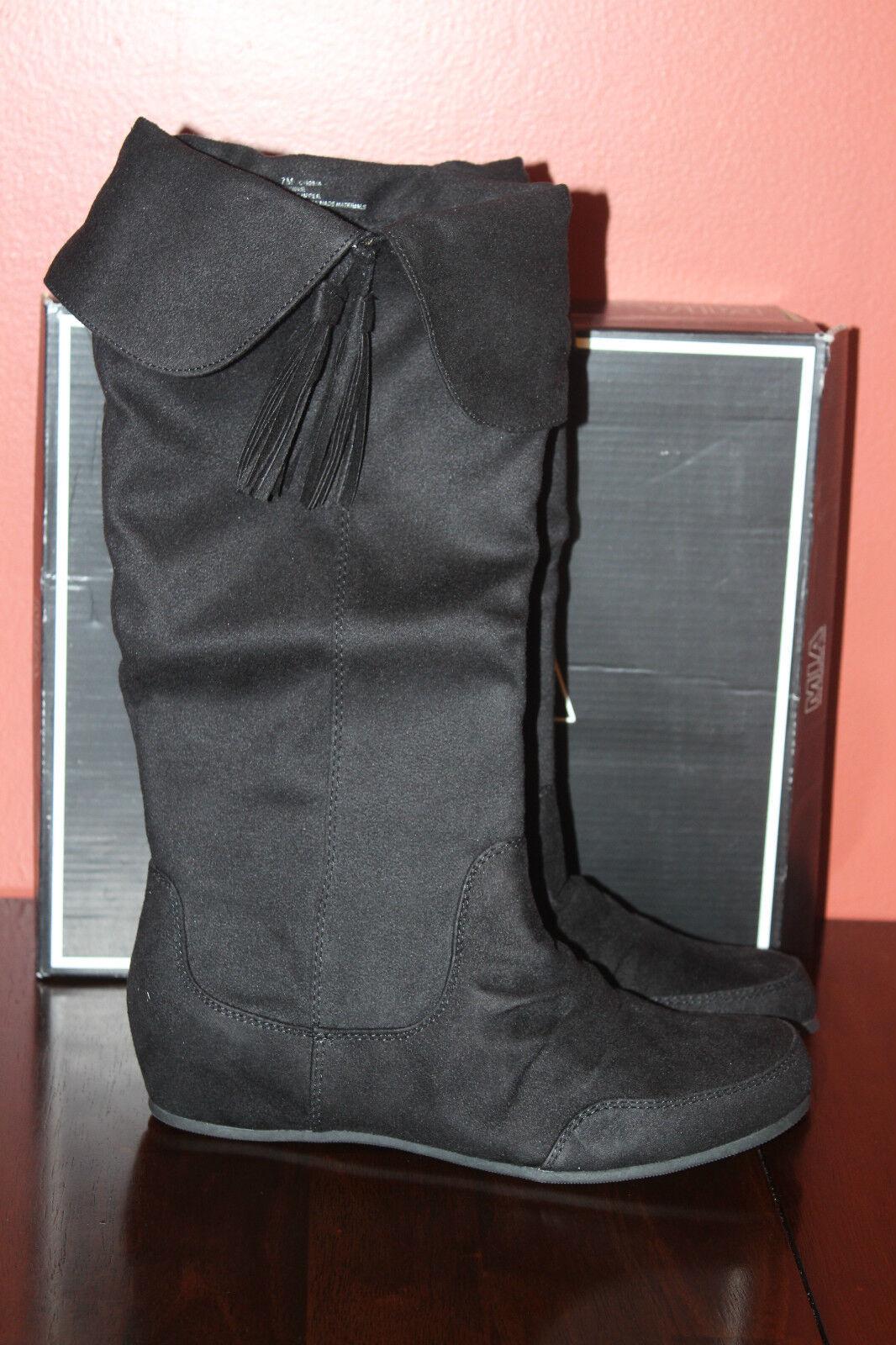 MIA CHERRIE TASSEL BOOT BLACK SUEDE    7us  80 80f3f7
