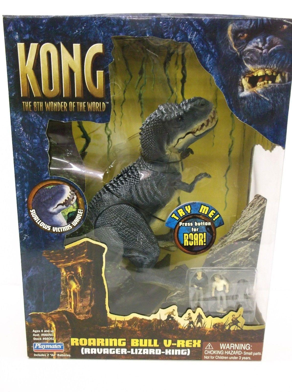 Kong 8th Wonder of The World Roaring Bull V Rex Playmates 2005 New Sealed