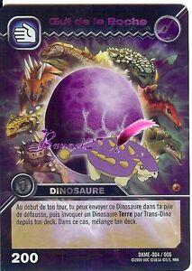 Carte dinosaur king dkme 004 006 oeuf de la roche egg holo titan rare ebay - Carte dinosaure king ...