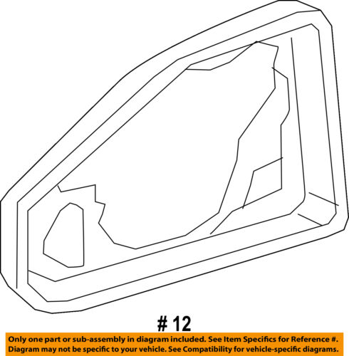 AUDI OEM 17-18 Q7 Door Side Rear View Mirror-Glass Frame Right 4M08572409B9