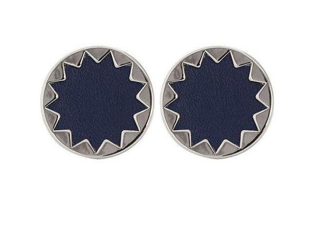 House Of Harlow Navy Sunburst On Earrings 0361
