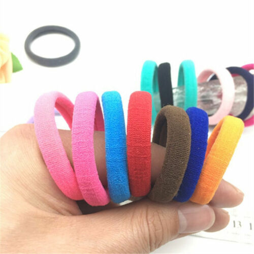 50Pcs Women Girls Hair Band Ties Rope Ring Elastic Hairband Ponytail Holder CUTE