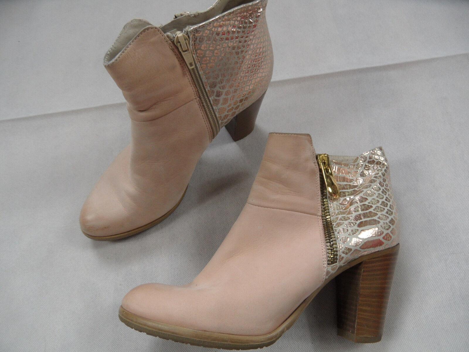 MANFIELD stylische Stiefeletten rosa Gr. 41 TOP SJ718