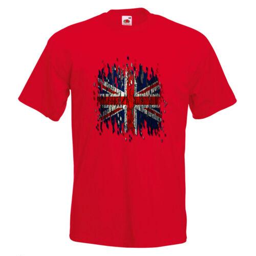 UK Digital Drapeau Homme T-shirt imprimé art Rouge Blanc Bleu