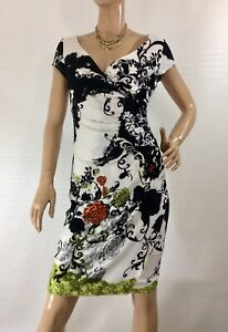 LOVERS-SIZE-8-FLORAL-FIXED-WRAP-STYLE-DRESS