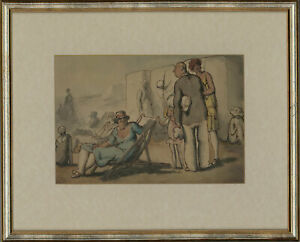 Harold Hope Read (1881-1959) - Framed Pen and Ink Drawing, Holiday Makers