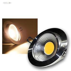 LED-Alu-Einbaustrahler-10W-COB-warmweiss-230V-Deckenleuchte-Einbauleuchte-Spot
