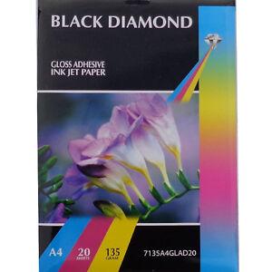 BLACK-DIAMOND-Brillante-adhesivo-A4-Profesional-Grado-Papel-fotografico-135gsm