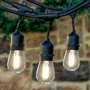 Details About Led S14 10m 10 Bulbs Outdoor String Lights