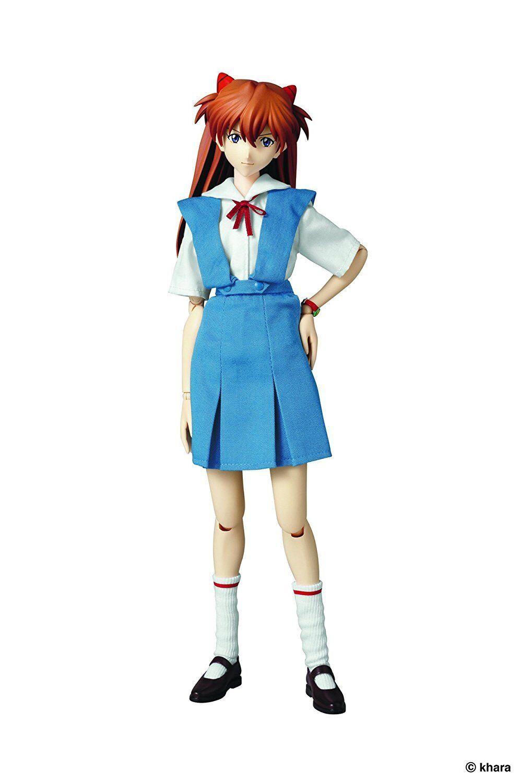 Evangelion Eva RAH Real Action Heroes Asuka Langley Uniform Version 1/6 Figure