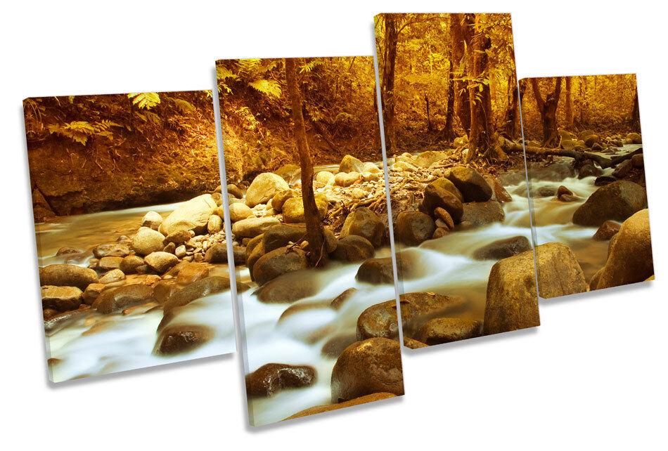 Río pared Paisaje escena Bosque Multi tela pared Río arte Foto Impresión d9d1d3