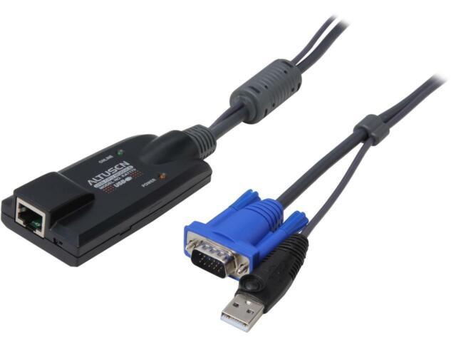 Hd-15 Rj-45 Female Network Black Box Servswitch Kv1401a Kvm Cable Adapter