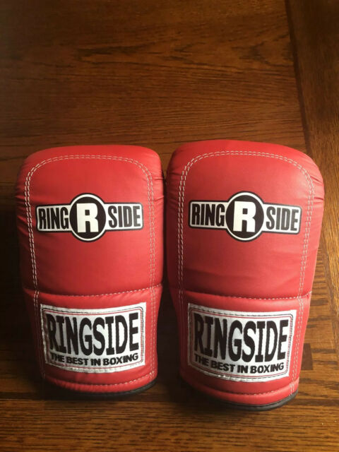 Last Punch Ultimate Fight Punch Bag Gloves  Red/& White S M L XL Size