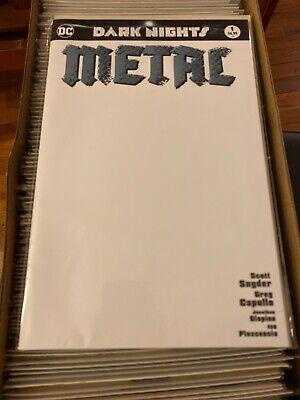 Dark Nights Metal #1 Francesco Mattina Color /& Sketch Variant Batman NM LTD 1200