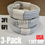 miniature 13 - 3Pack USB Fast Charging Cable 3/6Ft For Apple iPhone 12 11 8 7 6 XR Charger Cord