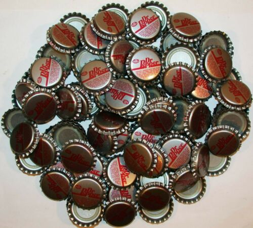 Soda pop bottle caps Lot of 100 DR PEPPER plastic lined unused new old stock