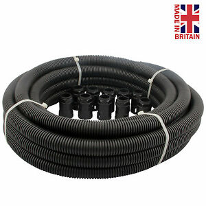25mm Black Flexible Conduit Contractors Pack 10M 10 Glands PP25CP Flexi
