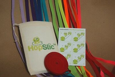 HopStic Chinese Jump Rope Made in USA Yellow Fluo 4 yds long includes pouch