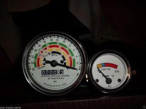 Super Dexta Temperature Gauge with Original Chrome Bezel Fordson Dexta
