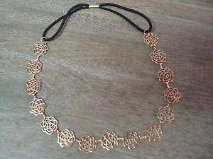 Punctual Metal Golden Rose Linked Headband Kids' Clothing, Shoes & Accs Hair Accessories