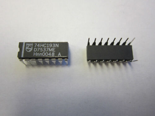 Philips 74HC193N IC 4BIT BINARY UP//DN COUNT 16DIP New 2 pcs