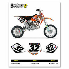 2002-2008 KTM SX 50 JDR/JSTAR Number Plates Graphics by Enjoy Mfg