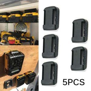 5x Battery Mount mate DeWalt XR 18V Storage Shelf Rack Stand Holder Slots Hanger