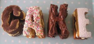 Hornear Silicona Molde Tin Pan inusual letras del alfabeto Molde Nacimiento palabra torta